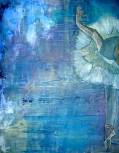 132 Ballerina i blåt 80x100 Emilie beskærer